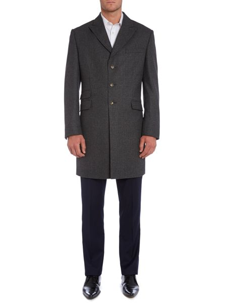 New & Lingwood Pointon epsom coat with peak lapel