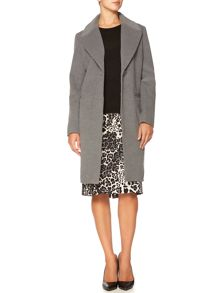 Grey Smart Coat - House of Fraser