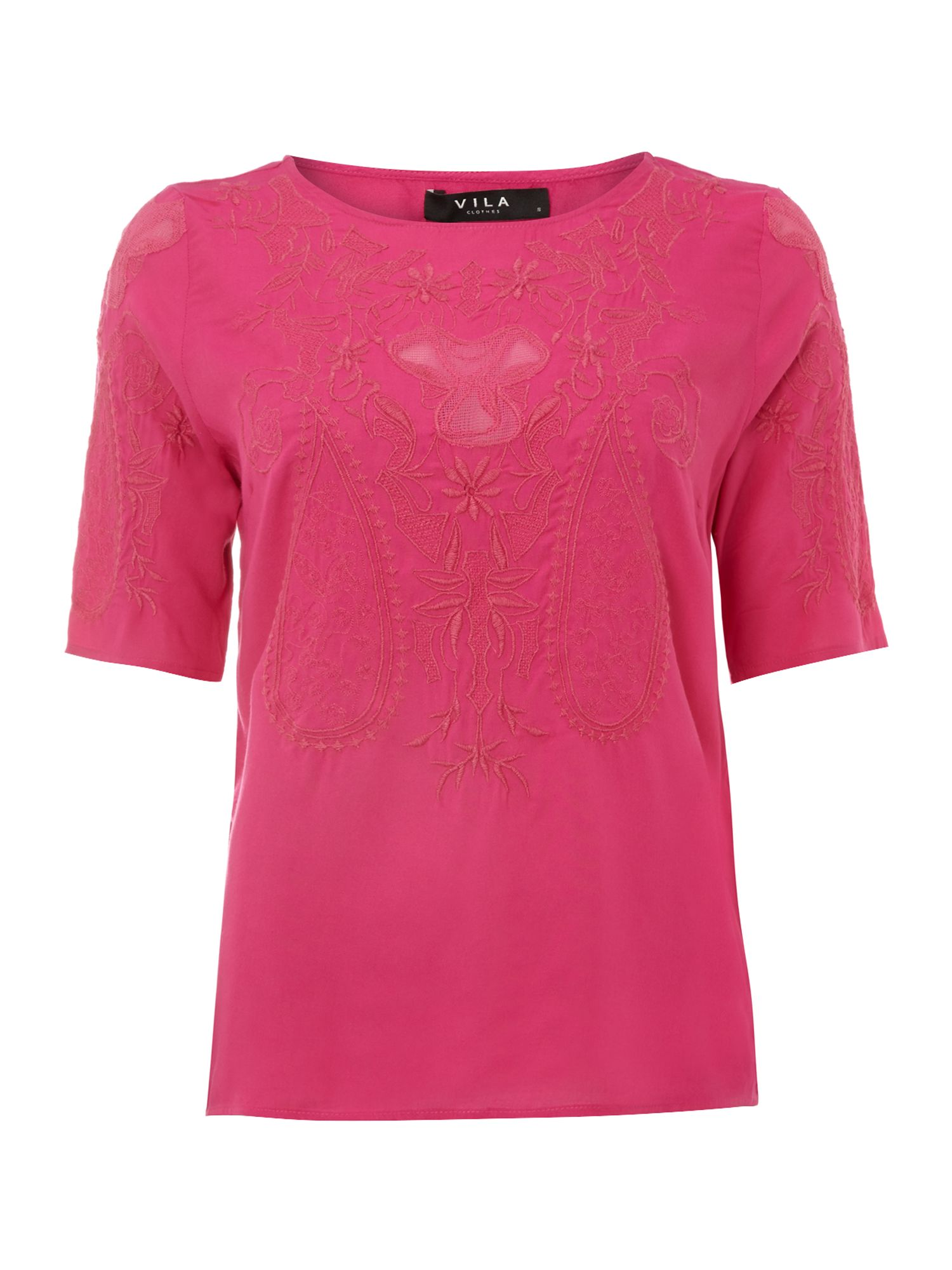 3/4 sleeve lace print top