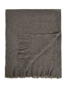 Charcoal cosy knit throw