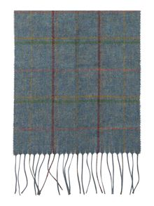 Newmarket plaid lambswool scarf