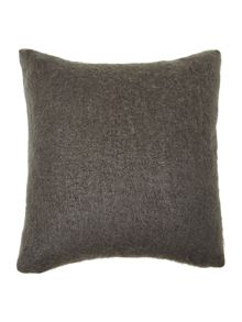 Charcoal cosy knit cushion