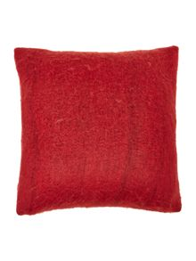 Deep red cosy knit cushion