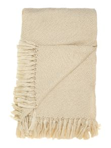 Cream & gold sparkle knit throw