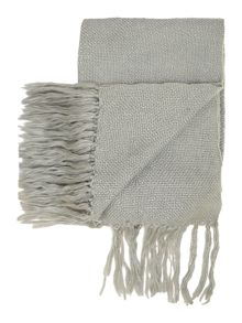 Linea Duck egg & silver sparkle knit throw