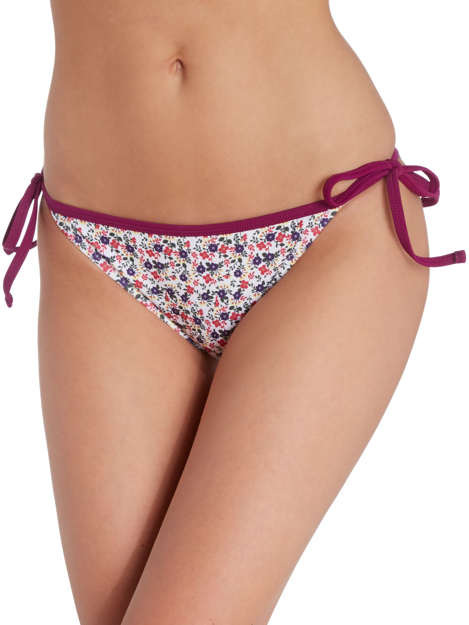 Ditsy floral tie side brief