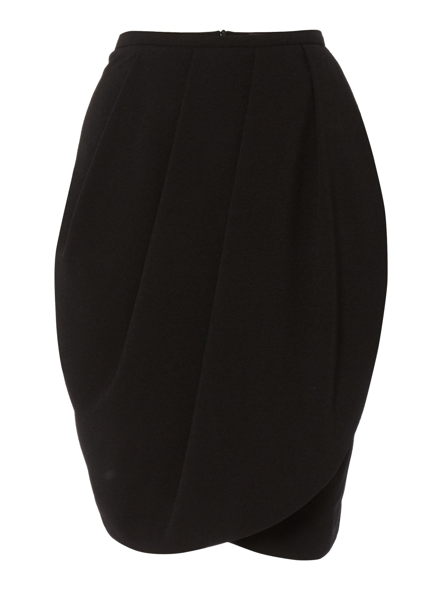 Wrap pleat tulip skirt