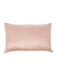 Living by Christiane Lemieux Triangle rust cushion
