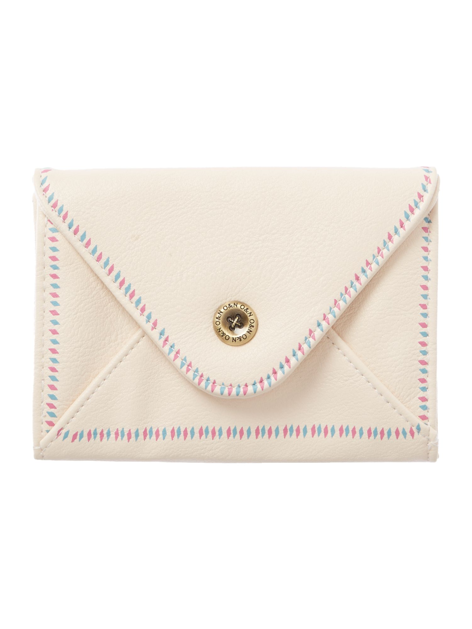 Hathaway cream small flapover purse