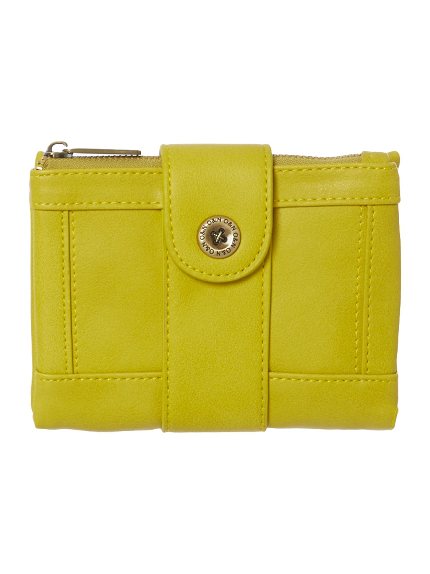 Mick yellow small flapover purse