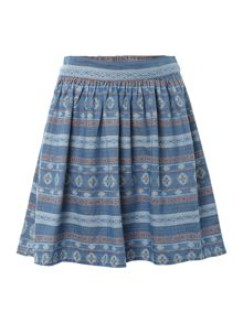 Vero Moda Tribal print denim skirt