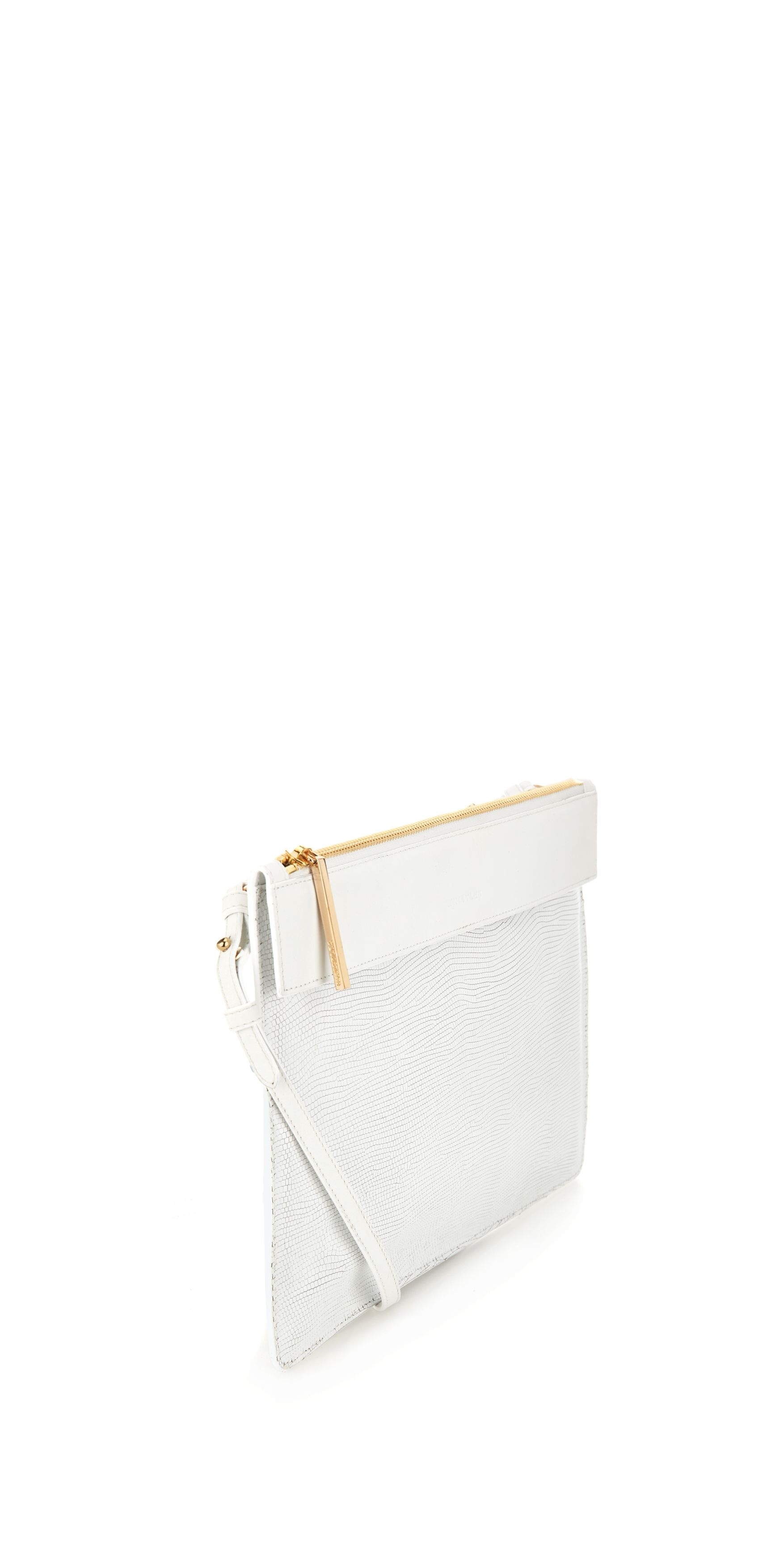 Olivia Leather Strap Zip Clutch