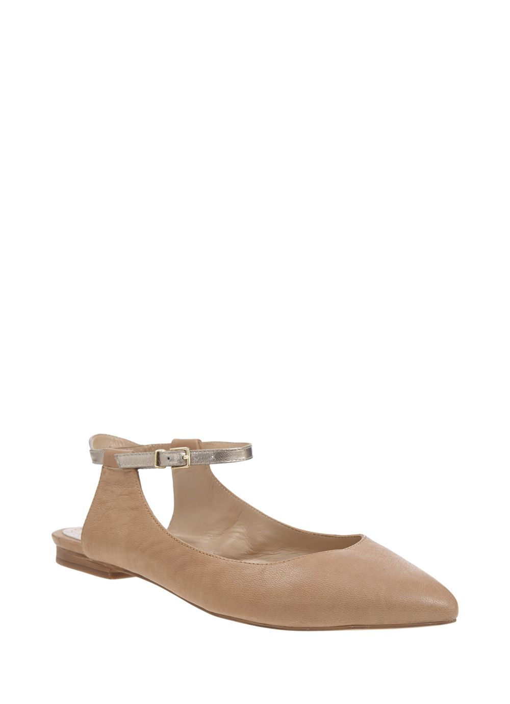 Nude lila pointed pump
