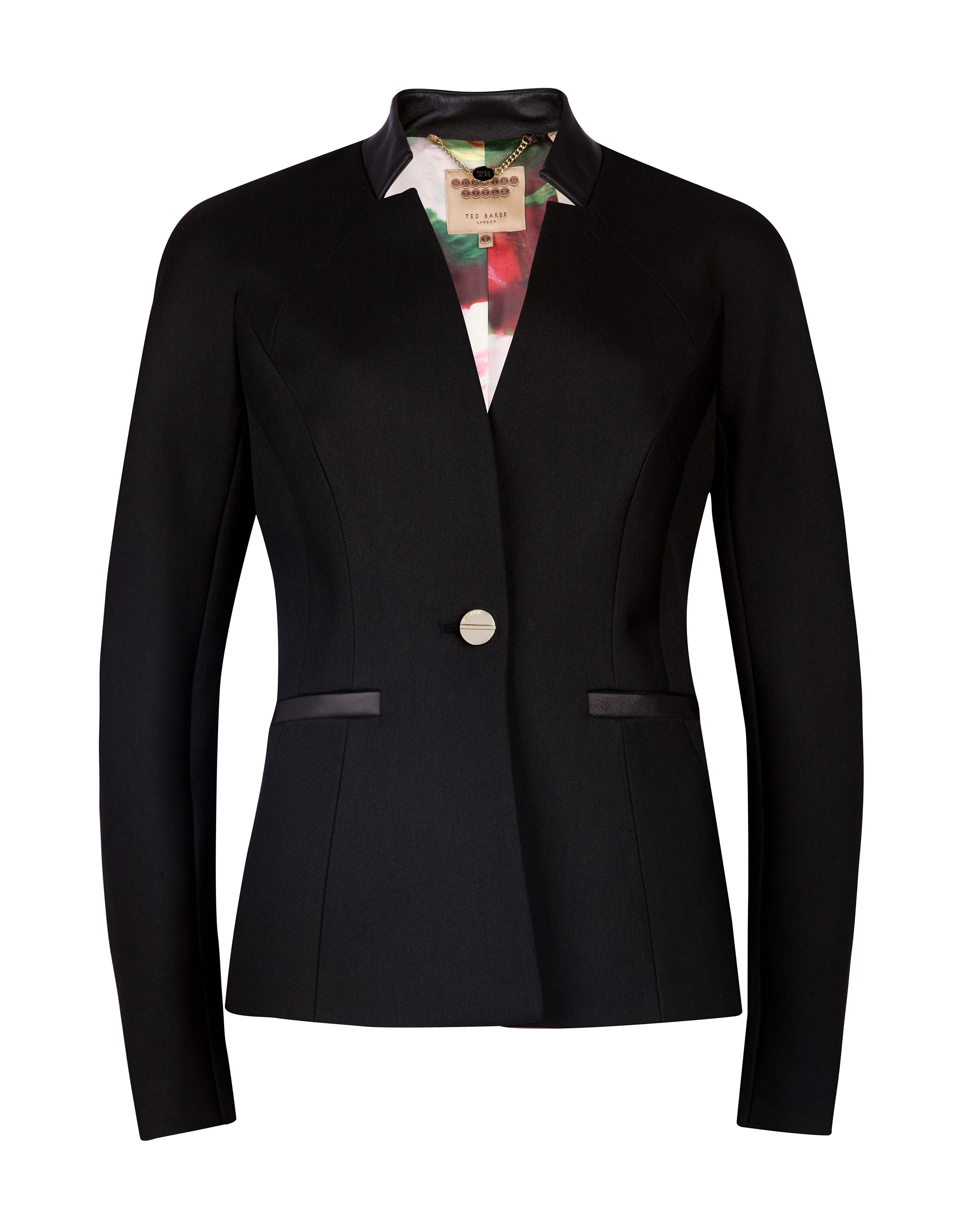 Nomelli leather trim blazer