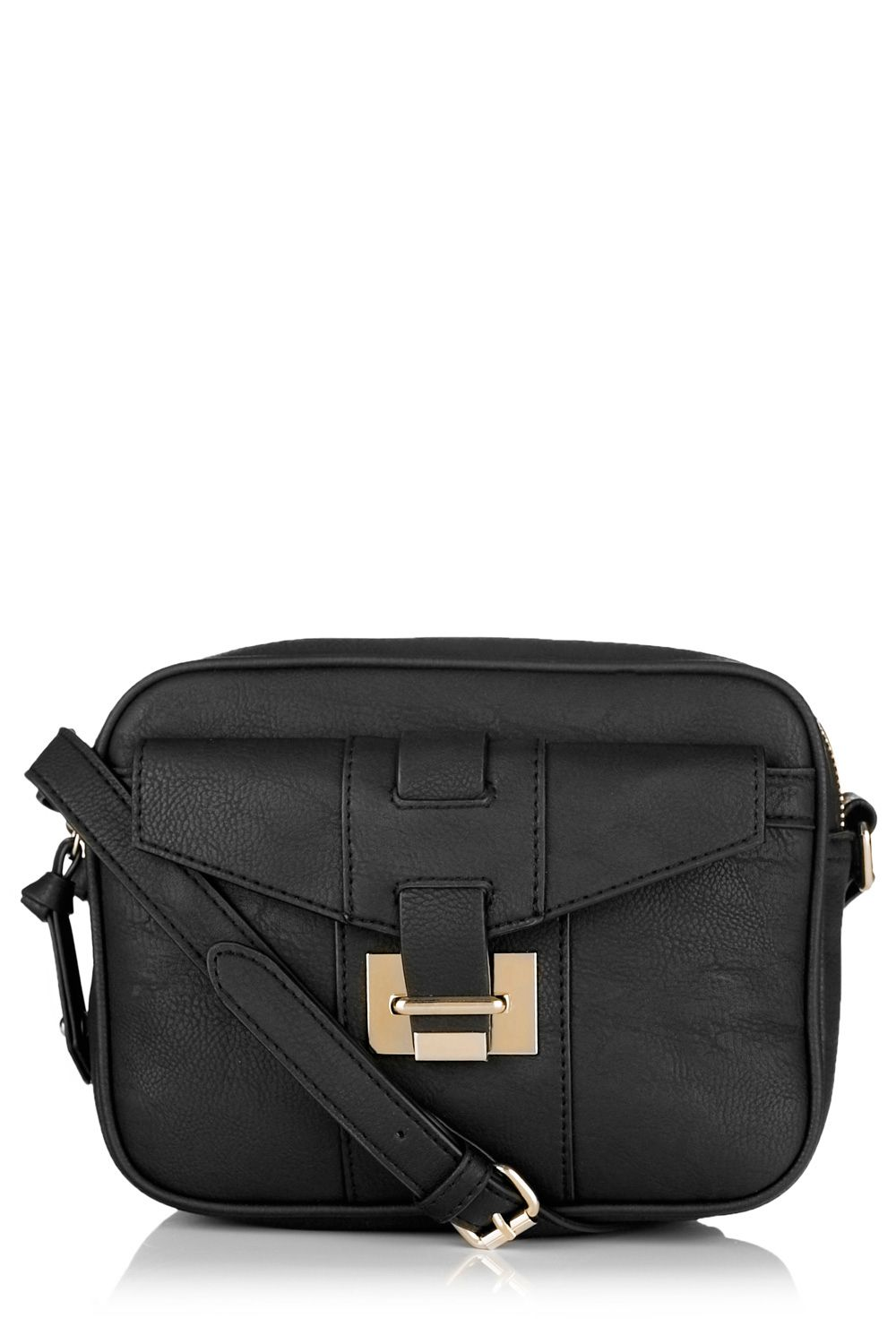 Hardware detail cross body bag