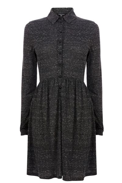 Warehouse Button through shirt dress