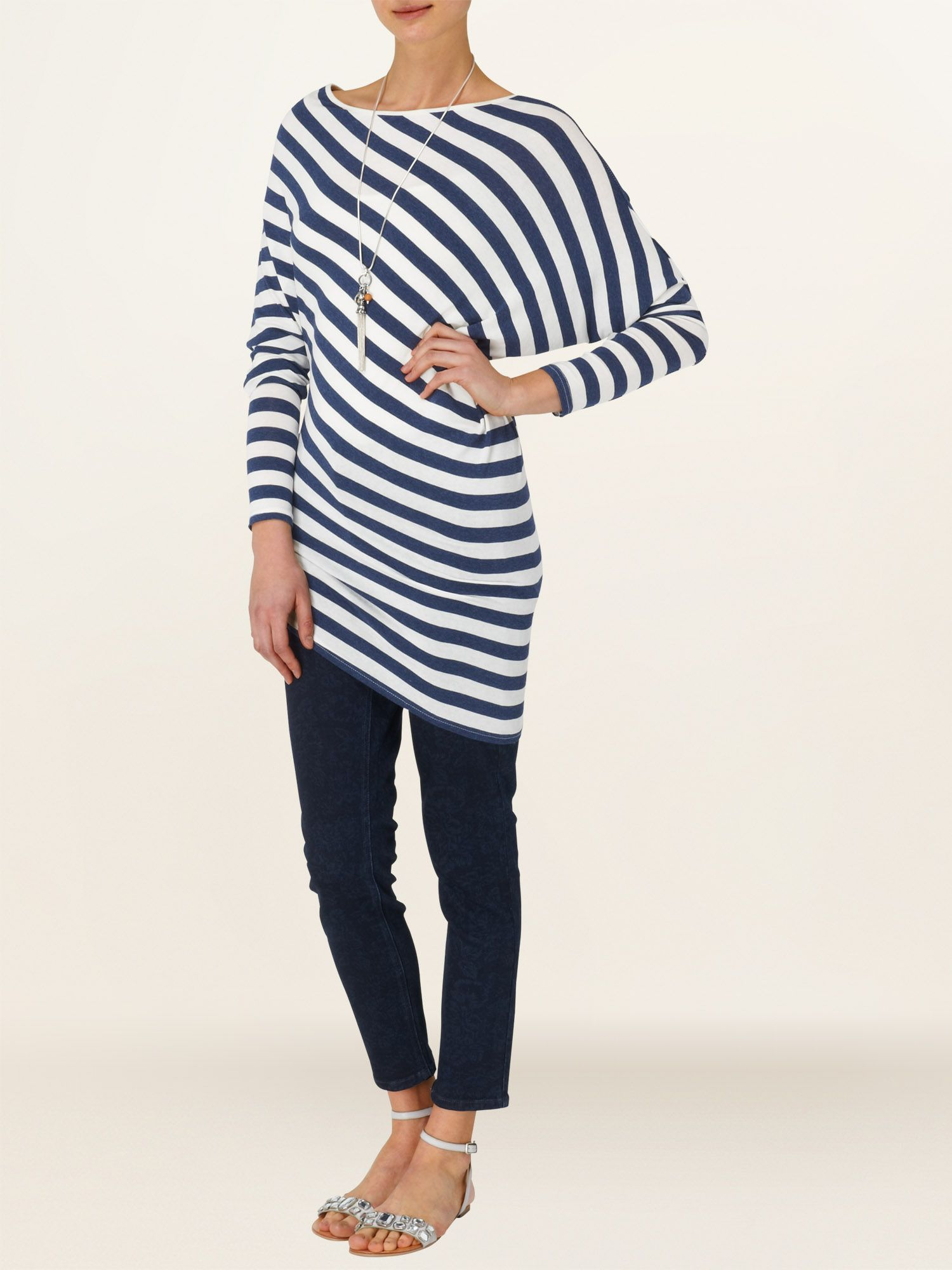 Eve stripe asymmetric top