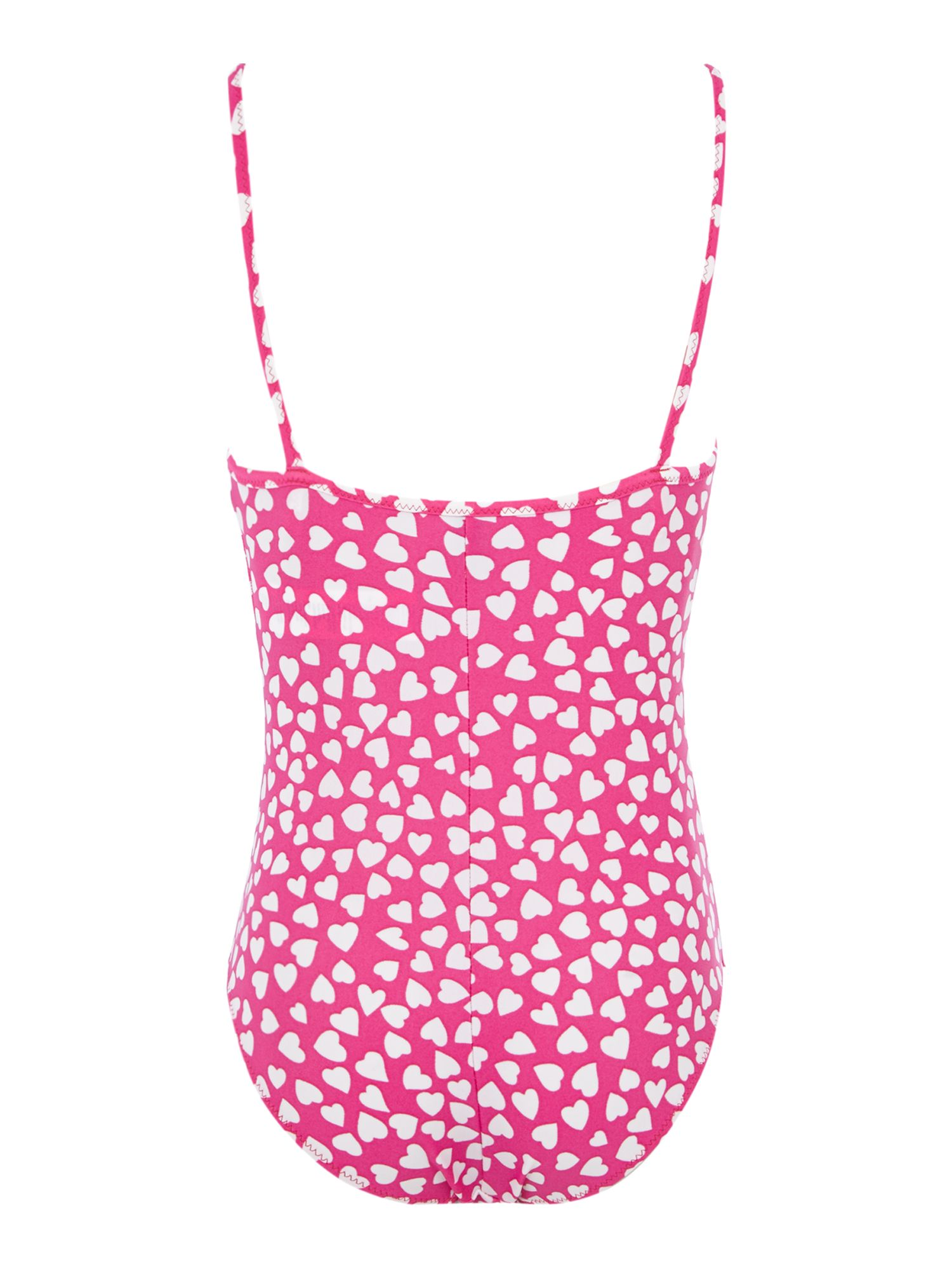 Girls heart print swimsuit