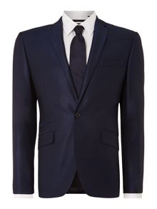 Pinsent wool/silk tonic jacket with jet pockets