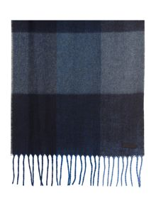 Thick check scarf