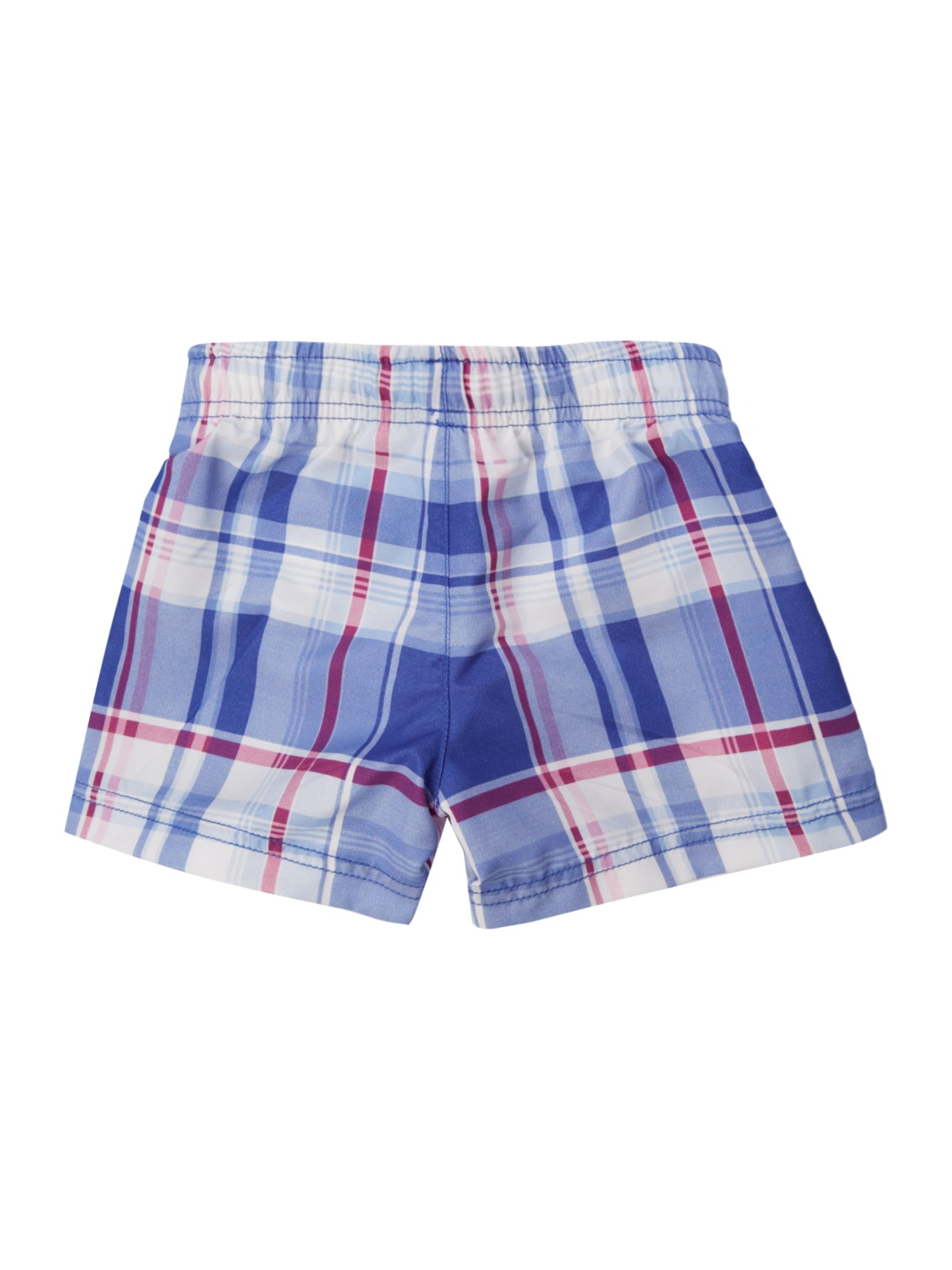 Boys check swim shorts