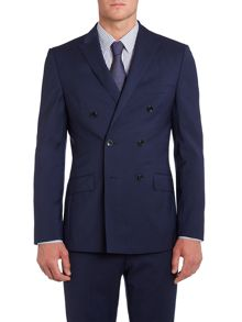 Redi double breasted peak lapel panama jacket