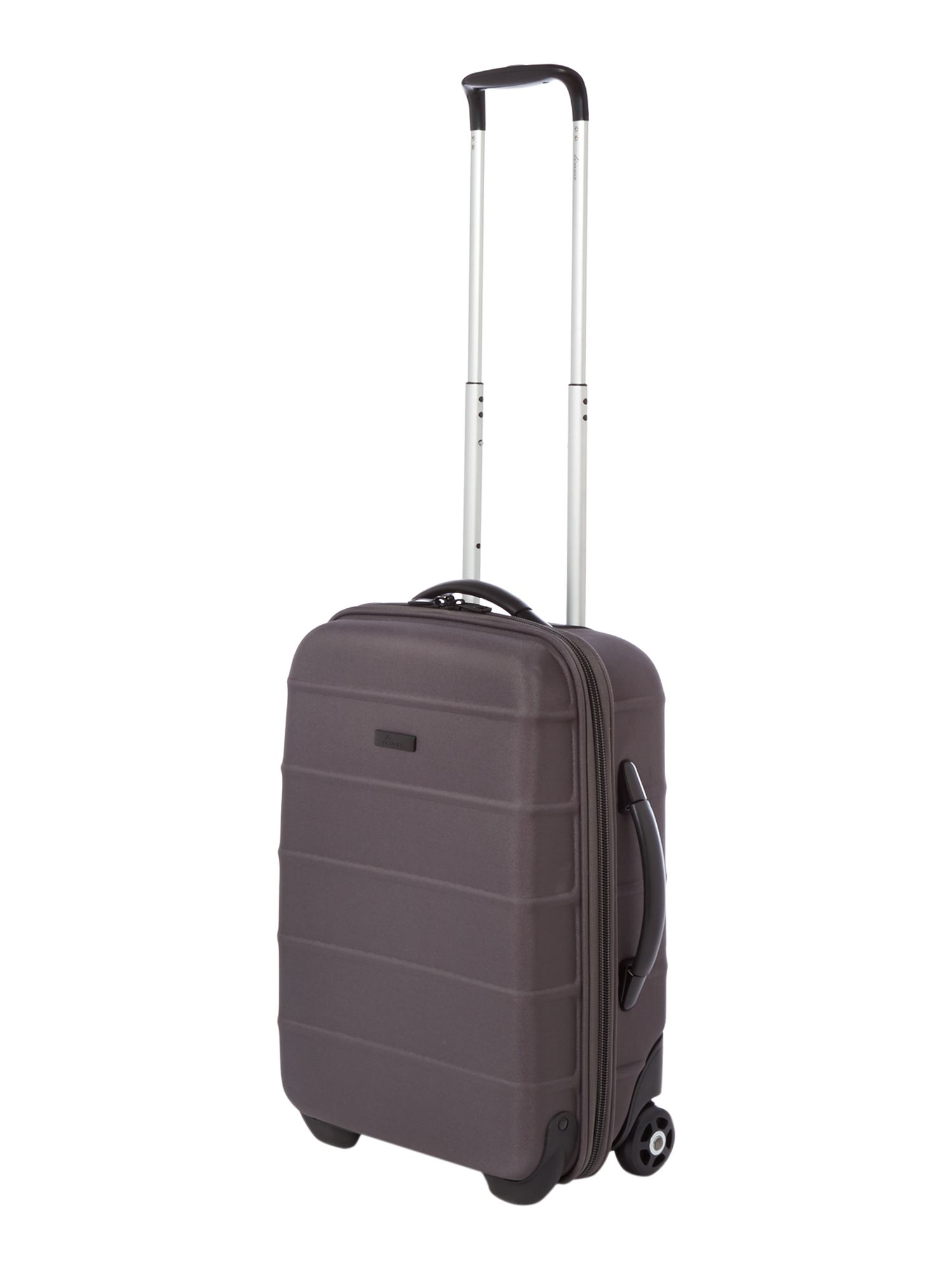 Frameless pod grey 2 wheel soft cabin suitcase