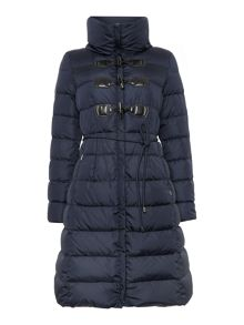 Vezzo padded belted coat with toggles