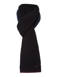 2 colour cable knit scarf