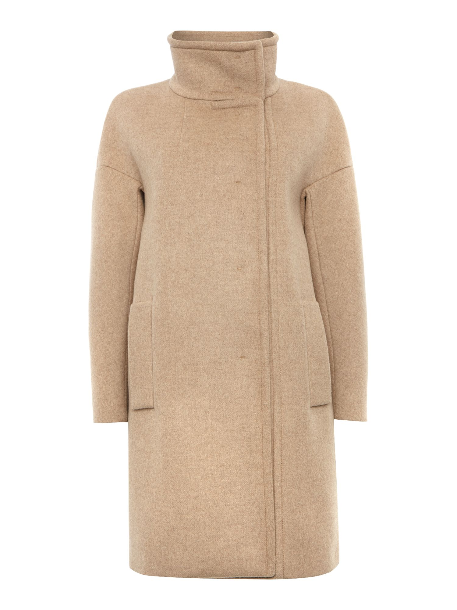 Ragni melton wool funnel neck coat