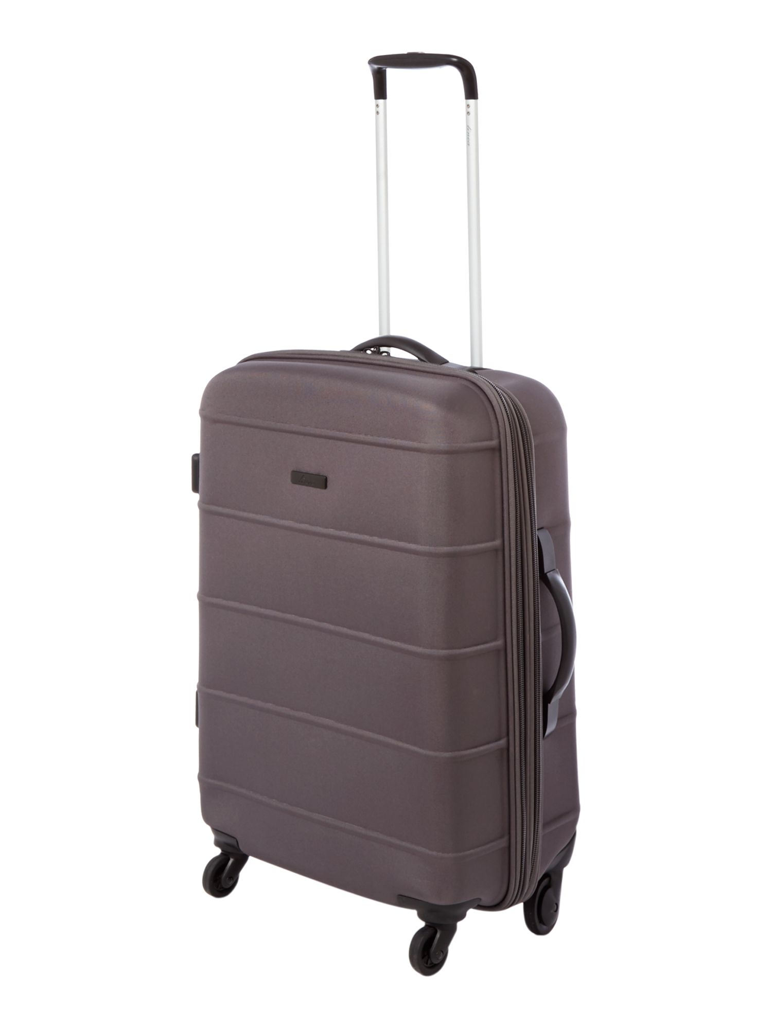 Frameless pod grey 4 wheel soft medium suitcase