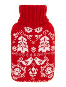 Scandi hot water bottle red