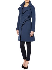Taglio long sleeved belted coat
