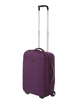 Frameless pod purple 2 wheel soft cabin suitcase