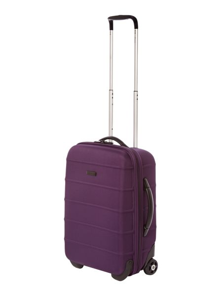 Linea Frameless pod purple 2 wheel soft cabin suitcase