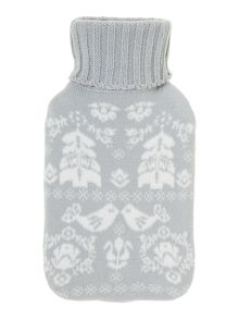 Scandi hot water bottle grey