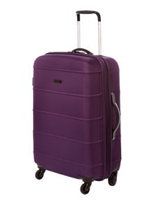 Frameless pod purple 4 wheel soft medium suitcase