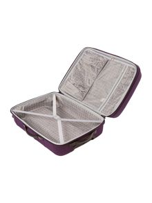 Linea Frameless pod purple 4 wheel soft medium suitcase