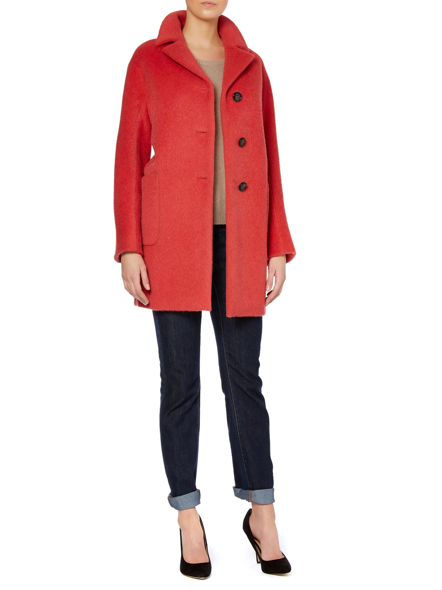 Brera alpace 3 button coat