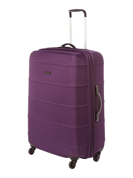 Linea Frameless pod purple 4 wheel soft large suitcase