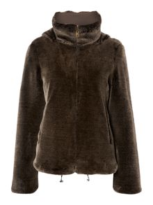 Nebbie faux fur hooded coat