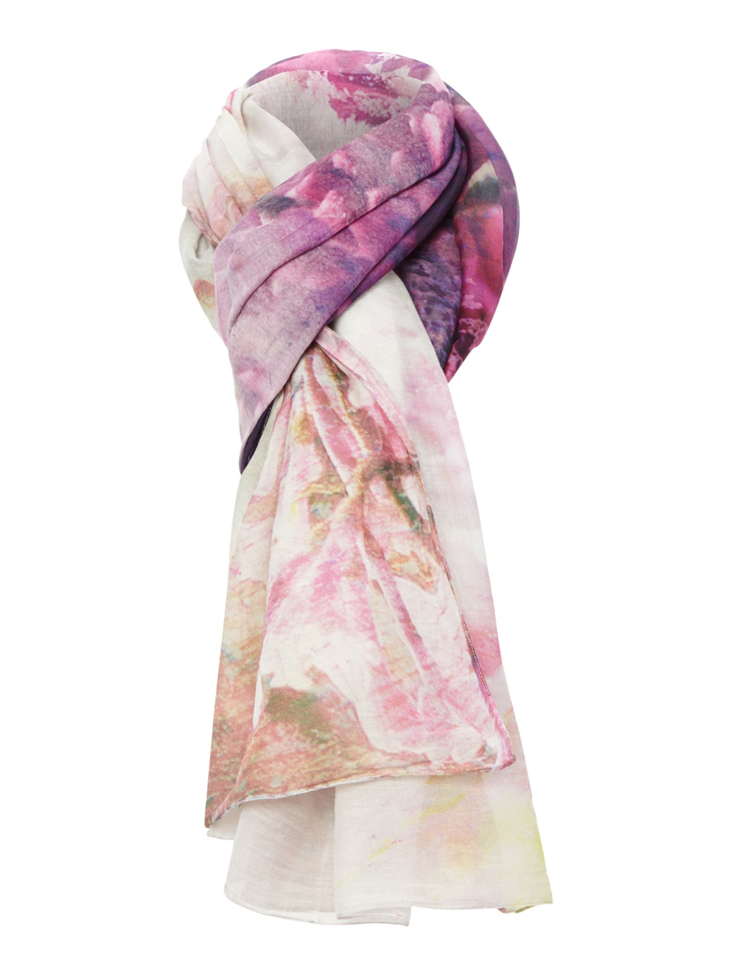 Faded sweetpea cotton and silk pashmina