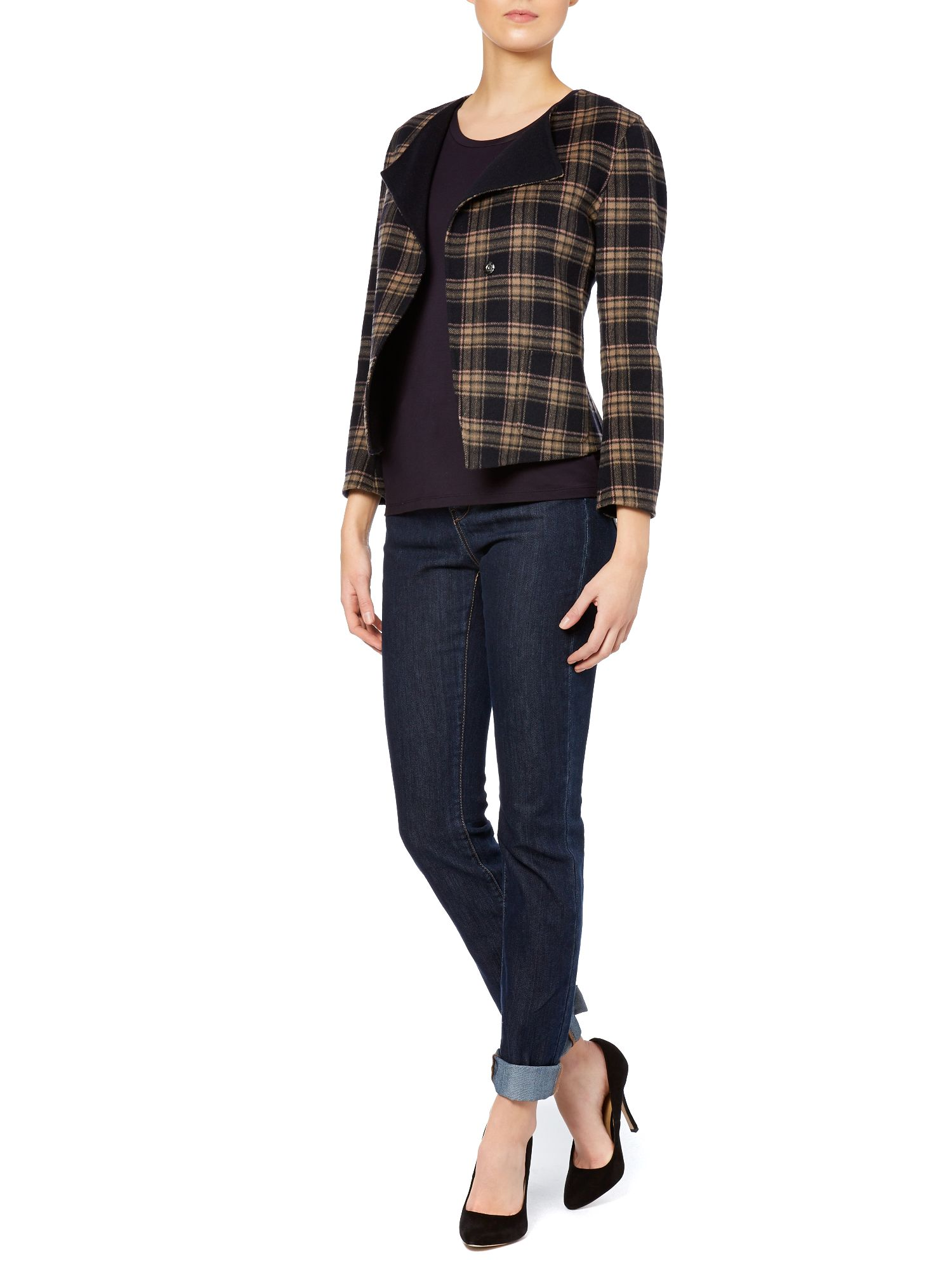 Renza double faced wool tartan jacket
