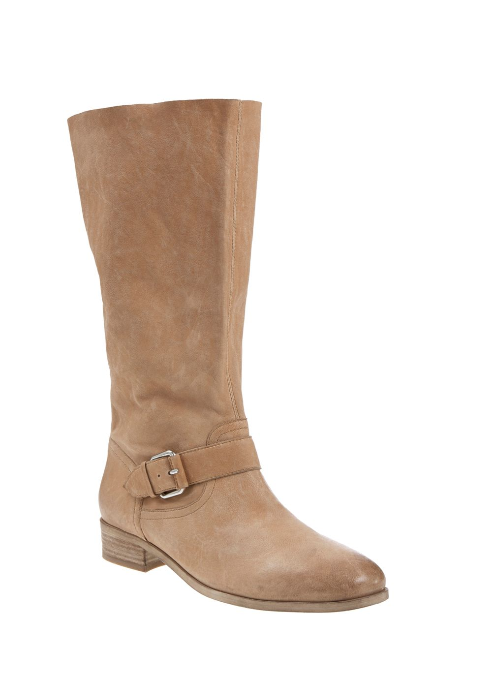 Nude pippa soft leather boot