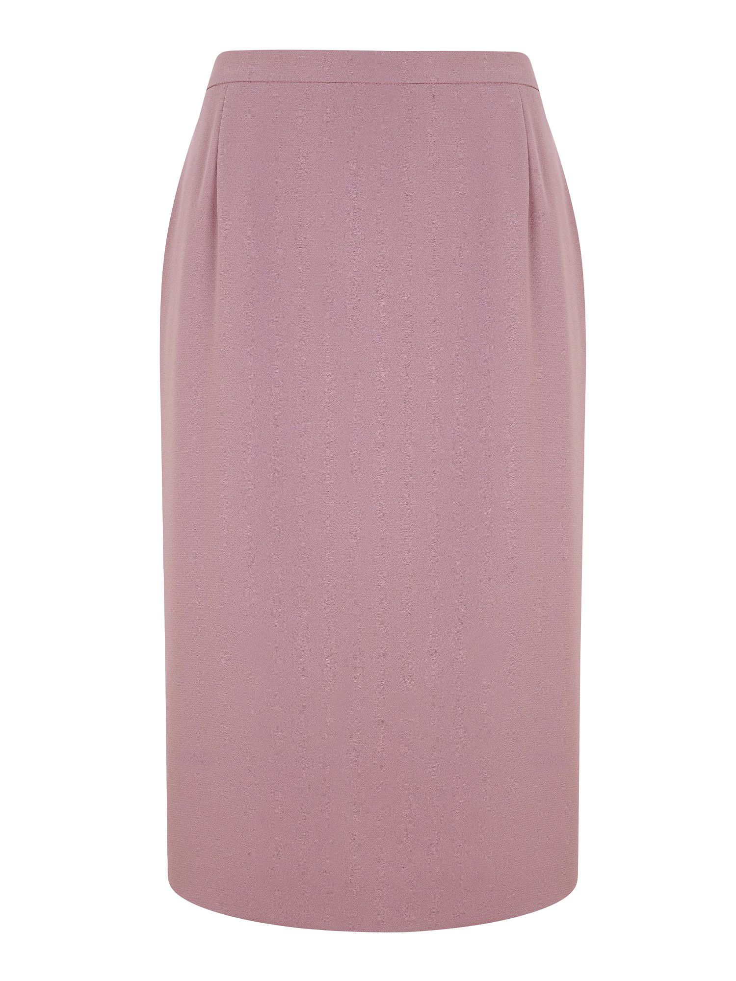 Mauve crepe pencil skirt