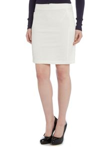 Embossed short skirt
