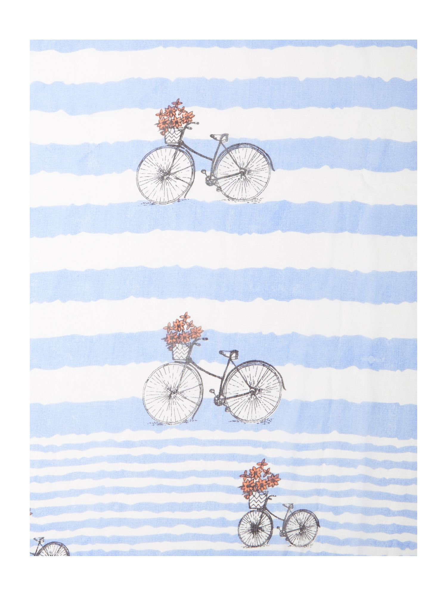 Bike stripe silk scarf