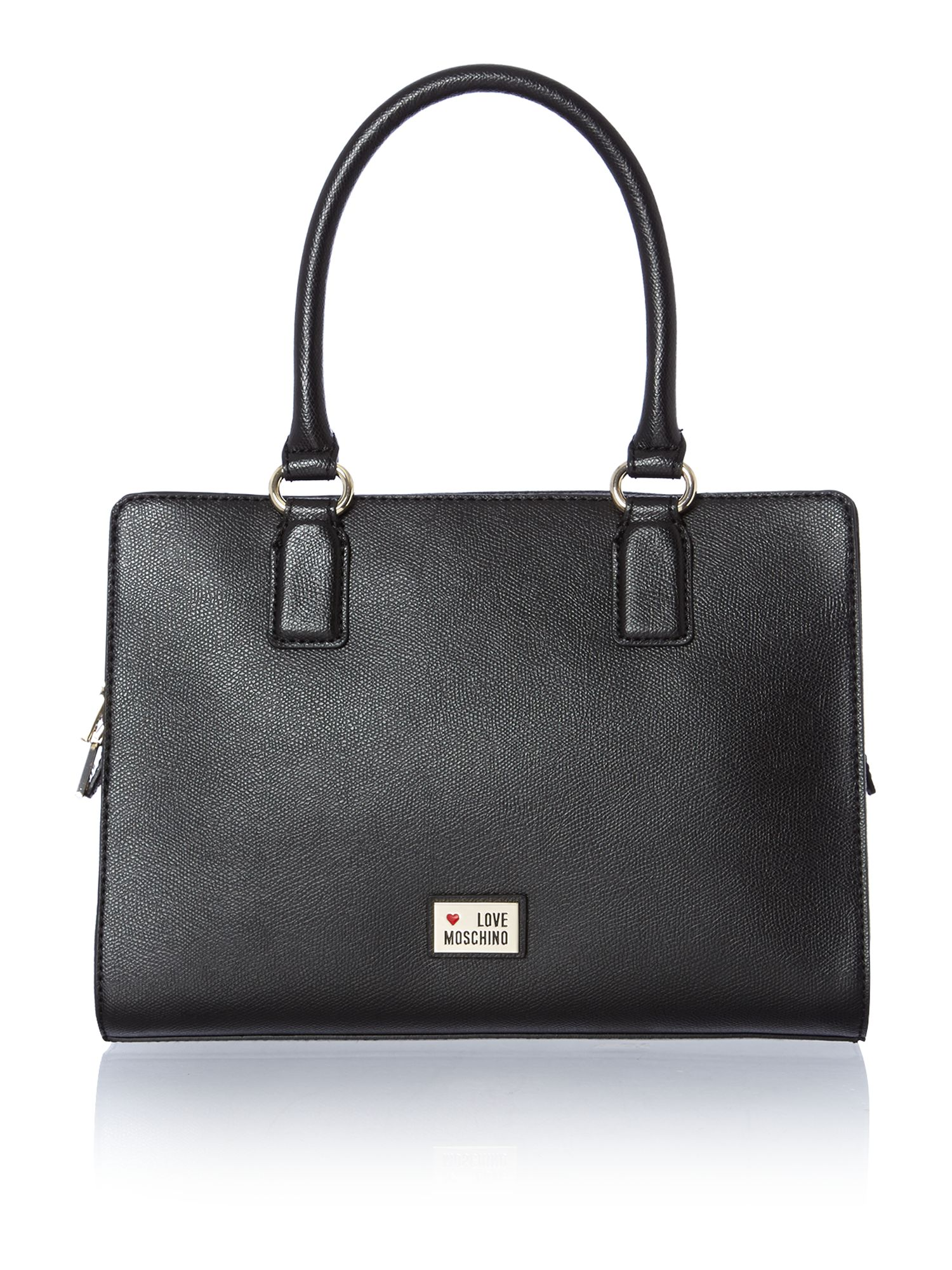Black small saffiano tote bag