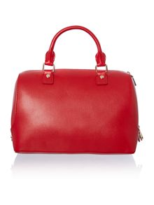 Red and black large colourblock bowling bag
