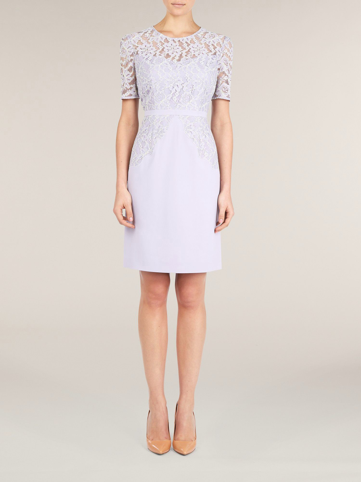 Lilac lace overlay dress